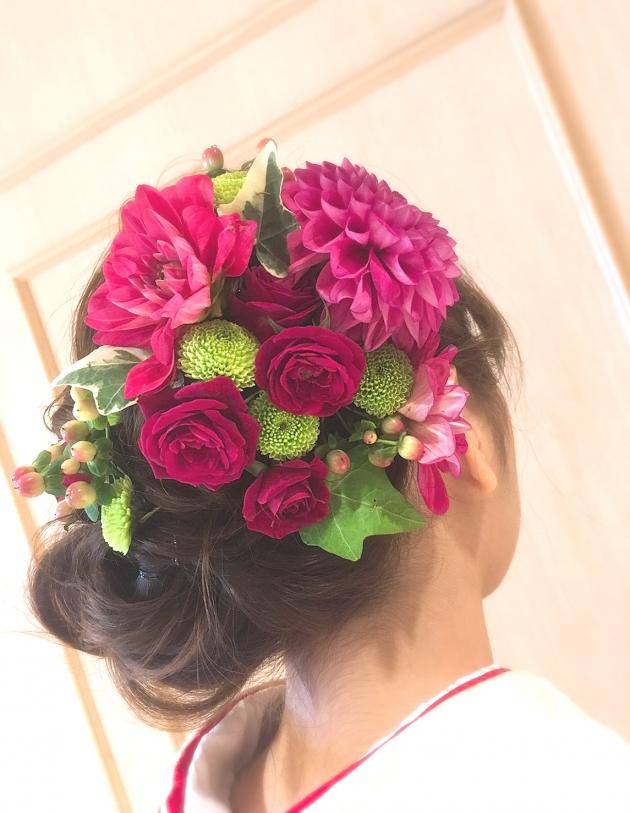 成人式や七五三やウエディングなどの和装のヘッドドレスです